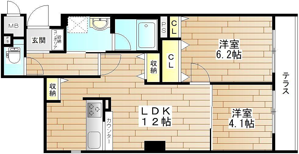 ★シャルマンフジリッツ本町★本町と心斎橋エリアへのアクセスが良い立地の2LDK!